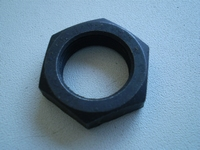 0142  clutch foot lever shaft nut, NOS, parkerized
