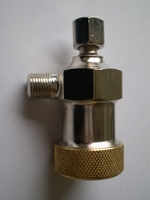 3623-32  petrol filter, nickle with brass cap
