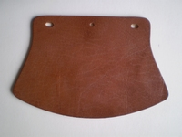 3757-26  front fender flap, brown leather