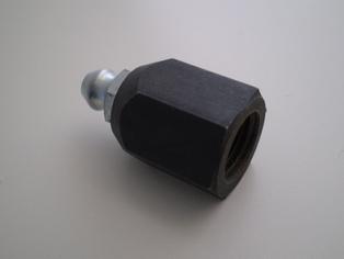 4124-38AP  front brake shackle stud nut, parkerized