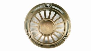 4809--31N  horn face 'sunburst', olive drab