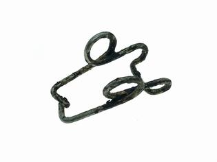 1423-42  latch spring clip, NOS