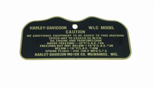3531-42M  caution plate WLC, brass