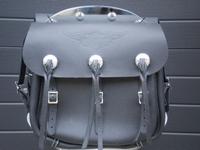 11785-36B  black early style saddlebags (pair)