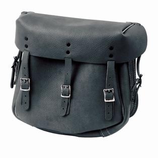 11786-XM-B  black Army style saddlebags (pair)