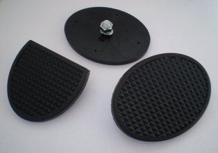 11791-45  brake and clutch pedal pads (3), black