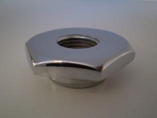 2634-30C  flat spring rod nut, chrome