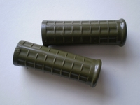 3310-42A  plastic handlebar grips, olive drab, NOS