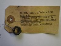 0129C steering damper rod nut, cadmium plated
