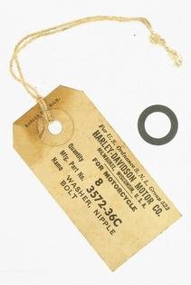 3572-36C  vent nipple bolt washer, NOS, parkerized