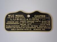 3531-42M  caution plate WLC, brass