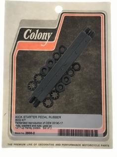 2093-17P  kick start pedal rubber rod kit, parkerized